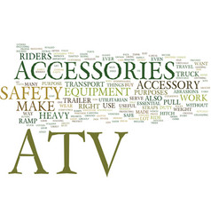 Atv accessories text background word cloud concept vector