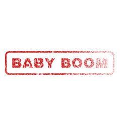 Baby boom rubber stamp vector