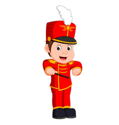 Boy marching band vector