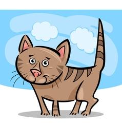 cartoon of cat or kitten vector image