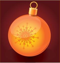 Christmas toy ball icon vector image vector image