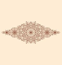 decorative floral mandala border element on beige vector image