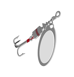 Detailed fishing lure vector image