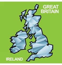 Digital great britain and ireland map vector