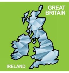 Digital great britain and ireland map vector image