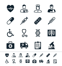Healthcare icons vector image vector image