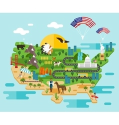 Infographics about america vector