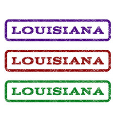 louisiana watermark stamp vector image vector image