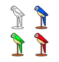 Macaw bird collection vector