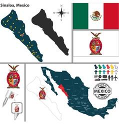 Map of sinaloa vector