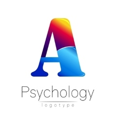 Modern logo of psychology creative style vector