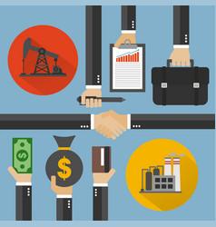 Oil business modern concept design flat vector