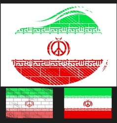Scratched flag of iran vector