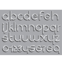 Set of letters font type vector