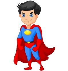 Super hero boy posing vector