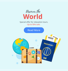 Travel and tourism advertisement banner vector