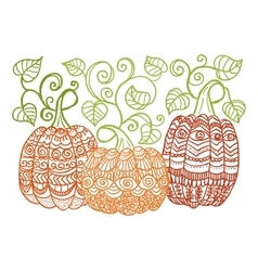 Zentangle style pumkins vector