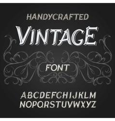 Vintage label font on a dark backround vector
