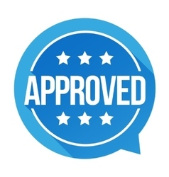 Approved sign badge vector