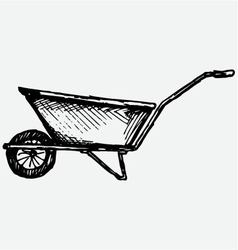 Garden wheelbarrow vector