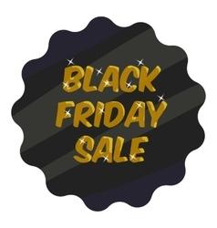 Tag black friday sale icon cartoon style vector