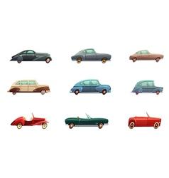 Retro car set vector