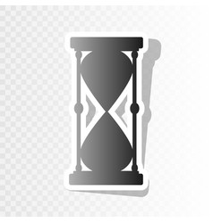 Hourglass sign new year vector