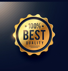 Realisitc best quality luxury golden label for vector