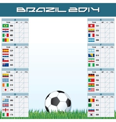 World soccer championship groups vector