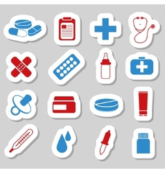 Pharmacy stickers vector