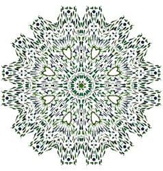 Beautiful turquoise circular ornament vector image