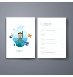 Modern sea holidays snorkeling flat icons cards vector