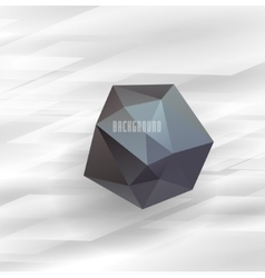 Abstract white geometrical design vector