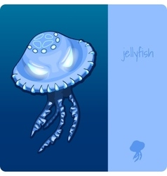 Single jellyfish with space for text vector