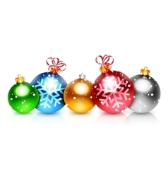 Colorful christmas balls vector