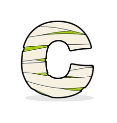 Letter c egyptian zombies abc sign coiled medical vector