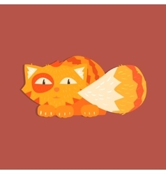 Fluffy tiger cat image vector
