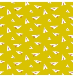 Origami paper plane seamless pattern vector