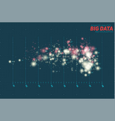 Abstract colorful big data point vector