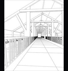 abstract industrial building constructions indoor vector image