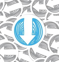 Arrows seamles background vector