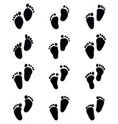 baby feet vector image vector image