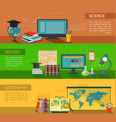 biology and geography online study and science vector image