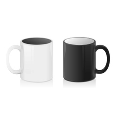 Black and White mug cup vector image vector image