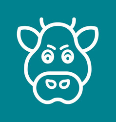 Boar face vector