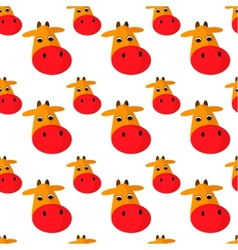 Cow seamless pattern vector image vector image
