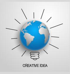 Creative idea earth vector