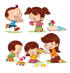 educate children vector image vector image