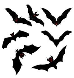 Flying Bats Set vector image vector image
