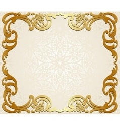 Frame on lace background vector